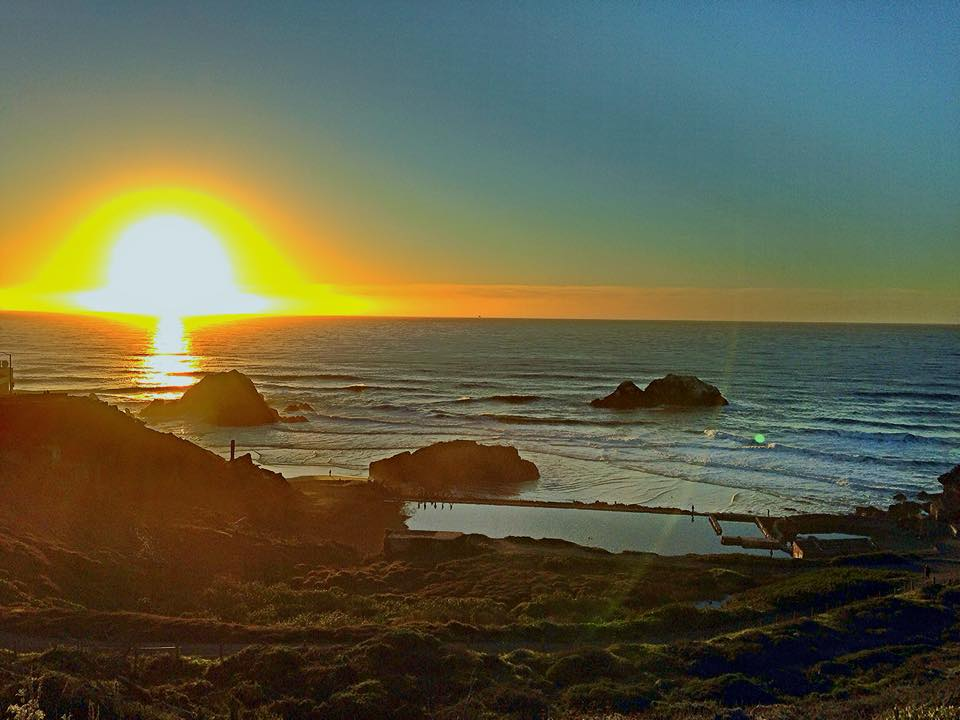 Sunset land's end